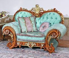 Luxury French Baroque Style Living Room Blue Sofa Set/Fancy Palace Style Wood Carving Upholstered Fabric Sofa, MOQ 1, View living room fabric sofa, BISINI Product Details from Bisini Furniture And Decoration Co., Ltd. on Alibaba.com