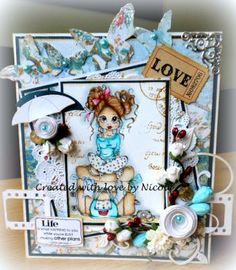 Scrapcard Addiction: Beautiful Buttons @ Addicted to Stamps Challenge