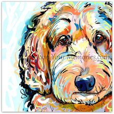 Doodle art print Doodle art print by CartoonYourMemories on Etsy Animal Paintings, Animal Drawings, Goldendoodle Art, Maltipoo, Havanese, Schnauzer, Happy Doodles, Doodle Dog, Dog Portraits