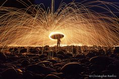 Steel Wool Party by ChristopherRenfro, via Flickr ~ this man creates photo art with light painting....way cool photos!