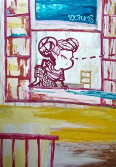 Riotuos #contemporaryart #painting #comic #pop #hunter #fauvism #sassypunkgirl #wonderwoman #expressionism #graffiti