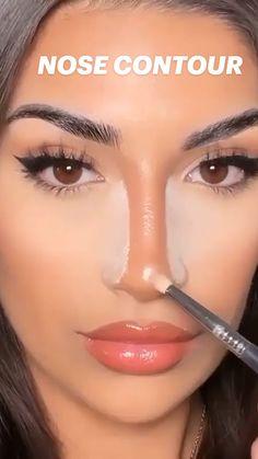 Nose Contouring, Contour Makeup, Eyebrow Makeup, Skin Makeup, Eyeshadow Makeup, Makeup Goals, Makeup Inspo, Makeup Inspiration, Makeup Tips