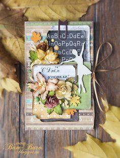 Autumn card Бум-Бюро: Осенняя открытка на день учителя