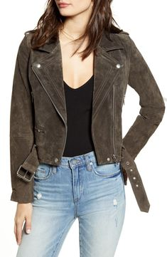 Shop the latest collection of BLANKNYC Suede Moto Jacket from the popular stores - all in one Suede Moto Jacket, Leather Jacket, Grey Leather, Raincoats For Women, Jackets For Women, Taylor Jackson, Blank Nyc, Jackets Online, Nordstrom