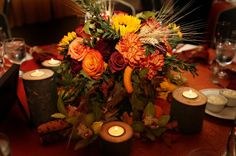 Rustic Fall Wedding Centerpieces