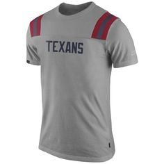 Nike Houston Texans Washed Football T-Shirt - Ash