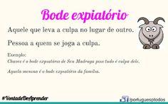 Português para todos: Bode expiatório