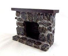Puppenhaus 1:12 Maßstab Miniatur-möbel Kunstharz Stein Feldstein Kamin