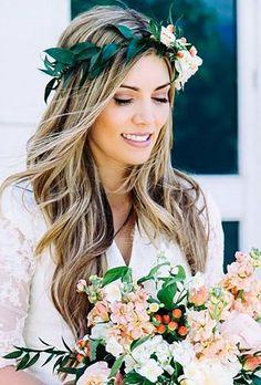 greenery wedding hair ideas arsa nova