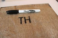 Breakfast Nook Frames: How To Write On Burlap