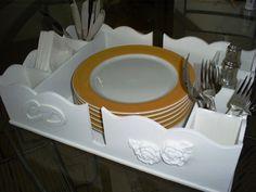 Porta Pratos  Ideal para Jantar Americano (Self-Service).