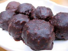 Raw Vegan version of Ferrero Rocher: cacao, raw hazelnuts, coconut oil---yum!
