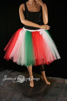 Adult tutu skirt romance with underskirt christmas elf white