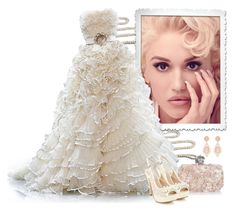 """""""White fluffy wedding gown"""" by fashionrushs ❤ liked on Polyvore featuring Yvonne, Christian Dior, Alexander McQueen and Faith"""