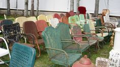 Let's Go Antiquing: Round Top Antiques Fair: '50s Lawn Chairs at Warrenton