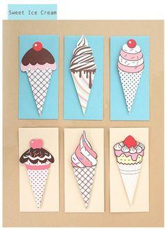 Ice Cream Card Set