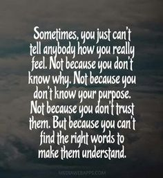 Certain ppl... it hurts sooo much when they dont even TRY to understand..:-(