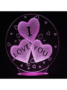 Mother's Day Love's Confession Colors Changing LED Night Light