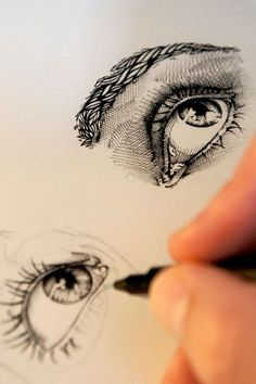 Image about black in Drawing/Art/illustration by ツ Corin ❥ Drawing Faces, Drawing Sketches, Pencil Drawings, Art Drawings, Drawing Tips, Sketching, Drawing Ideas, Realistic Drawings, Drawing With Pen