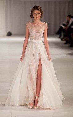 A-line Bateau Neck Floor-length Backless Cap Sleeves Organza Evening Dresses