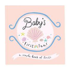 Beach Baby Memory Book - Nautical - Baby Girl - Beach Themed - First Year Baby Memory Book for Girls