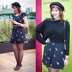 A Joyce, do blog Gostei E Agora, escolheu nosso vestido com a estampa Ballet para ir ao #SPFW!