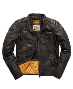 Superdry Real Trials Leather Jacket.