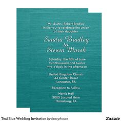 Teal Blue Wedding In