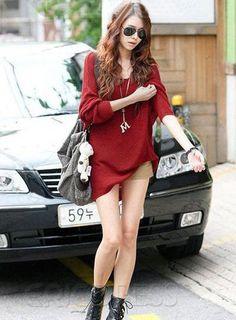 Deluxe Korean Style Loose Knit Long Plus Size Knitwear.