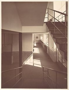 School Interior: View from Stairway and Hall by   Werner Mantz  /    Date:      1932
