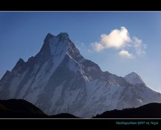 Machhapuchhare has never been climbed to its summit. For the Nepalese people the mountain is a holy mountain, and therefore off limits to climbing. Machhapuchhare is particularly sacred to the god Shiva.