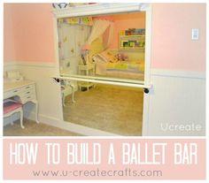 How to Build a Ballet Bar www.u-createcrafts.com