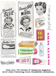 Collage sheets: 50s ads for women collage sheet by digitalmisfit, via Flickr