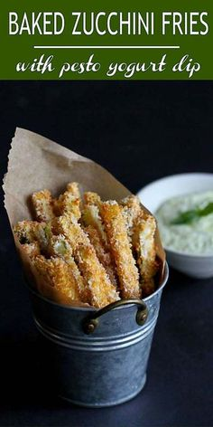 Healthy Recipes : Illustration Description Zucchini fries are a fantastic way to serve up this summertime squash. Baked and healthy, then dipped into an easy pesto yogurt sauce. 113 calories and 3 Weight Watchers Freestyle SP -Read More – Best Party Appetizers, Finger Food Appetizers, Appetizer Recipes, Healthy Appetizers, Bake Zucchini, Zucchini Fries, Clean Eating Snacks, Healthy Snacks, Healthy Recipes