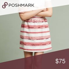 Anthropologie Paper Crown Fiesta Striped Skirt From Lauren Conrad's Paper Crown collection comes this adorable fiesta striped skirt ready to be worn for many occasions!                Cotton, polyester, acrylic A-line silhouette Side pockets Dry clean USA Anthropologie Skirts