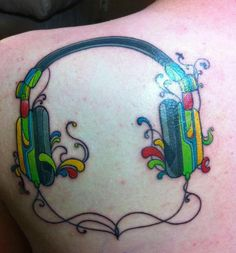 Headphone tattoo