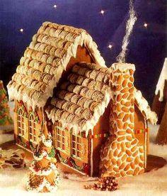 Gingerbread kuća s dvije vrste tijesta