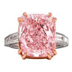 1stdibs 12ct fancy pink diamond ring presented by MS Rau 7.8 Million