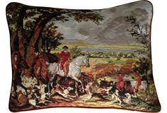 Luxury Furniture & Home Decor Pillow Fight, Throw Pillow, English Country Style, Cushion Cover Designs, English Decor, Hunt Club, Equestrian Decor, Fox Hunting, Needlepoint Pillows