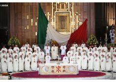 """El Papa en el Santuario de la Virgen de Guadalupe: """"No estamos solos, ella va con nosotros"""" - Radio Vaticano"""