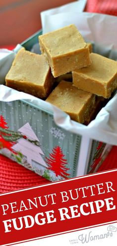 This foolproof Peanut Butter Fudge recipe comes out delicious every single time! Fall in love with this microwavable dessert that is incredibly easy to make in 10 minutes. The perfect melt-in-your-mouth treat to whip up for a Christmas in July gift idea! Chocolate Candy Recipes, Fudge Recipes, Dessert Recipes, Chocolate Tarts, Chocolate Fudge, Easy Recipes, Dinner Recipes, Sweet Desserts, Delicious Desserts