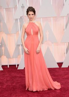 Anna Kendrick attends the 87th Annual Academy Awards in custom Thakoon.