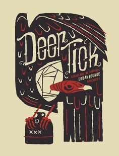 Furturtle Show Prints - DEER TICK Poster   Travis Bone