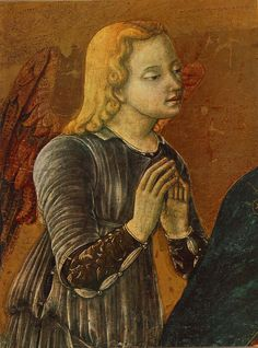 Madonna with Child and Two Angels (detail) - Matteo, di Giovanni  - TerminArtors