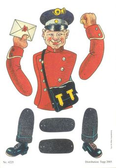 Jumping jacks have been a Paal-specialty. postman is a reprint from 2005, when it adorns a large postcard. Whether it was originally released as a postcard, I unfortunately do not. I guess that it has been released as a large cut out.