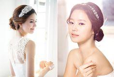 韓國唯美新娘髮飾品 korean bridals make up