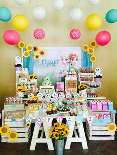 FROZEN FEVER Birthday Party Ideas | Photo 6 of 29 | Catch My Party