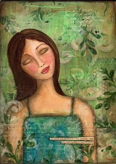 Serenity mixed-media artwork. So whimsical and soothing.
