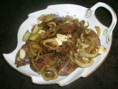 W Mojej Kuchni Lubię..: wątróbka z indyka z cebulą i czosnkiem...