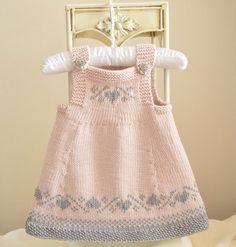 Luv U Forever Pinafore Dress - Baby Knitting pattern by OGE Knitwear Design. Baby Knitting Patterns, Knitting For Kids, Baby Patterns, Free Knitting, Dress Patterns, Knitting Charts, Crochet Patterns, Knitting Designs, Crochet Ideas